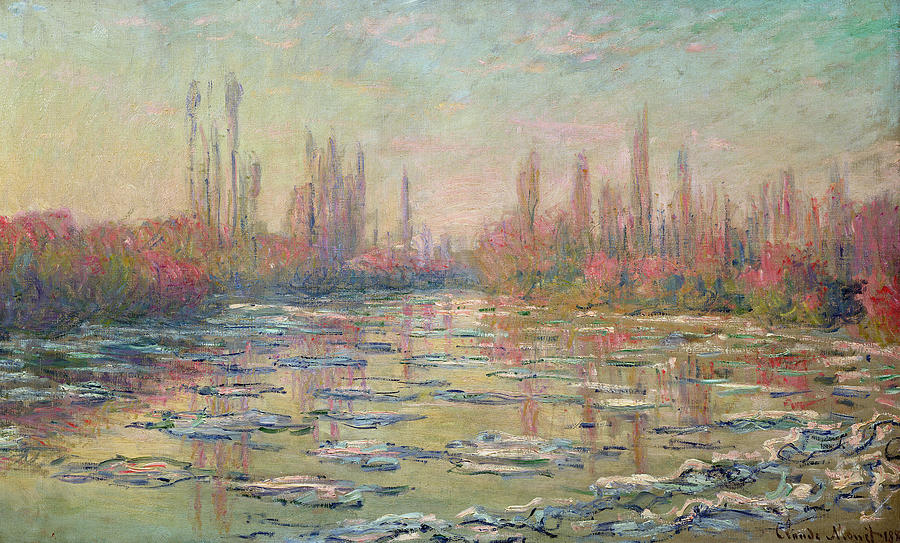 Monet Painting - The Thaw On The Seine by Claude Monet