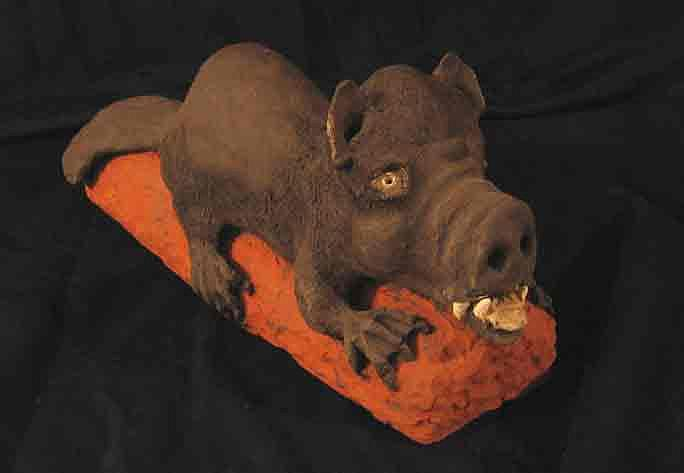Fired Clay Sculpture - The Thing by Andre Ferron