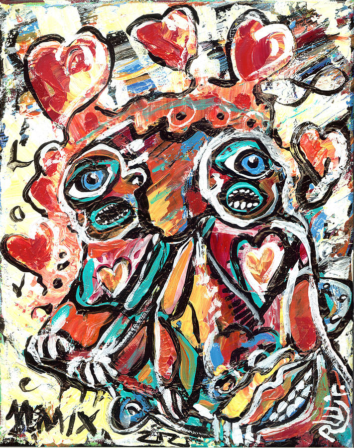Contemporary Painting - The Things We Do For Love by Robert Wolverton Jr