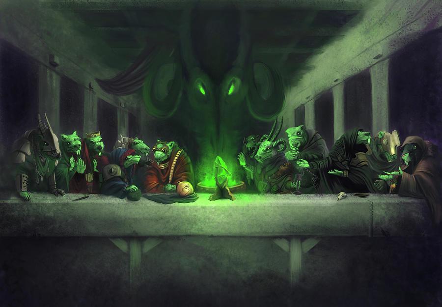 Warhammer Digital Art - The Thirteenth Member by Craig Lee