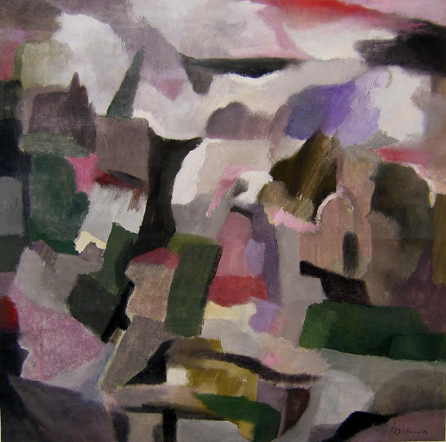 Cubismo Painting - The Thoughts Of Cezanne by Adolfo De Turris