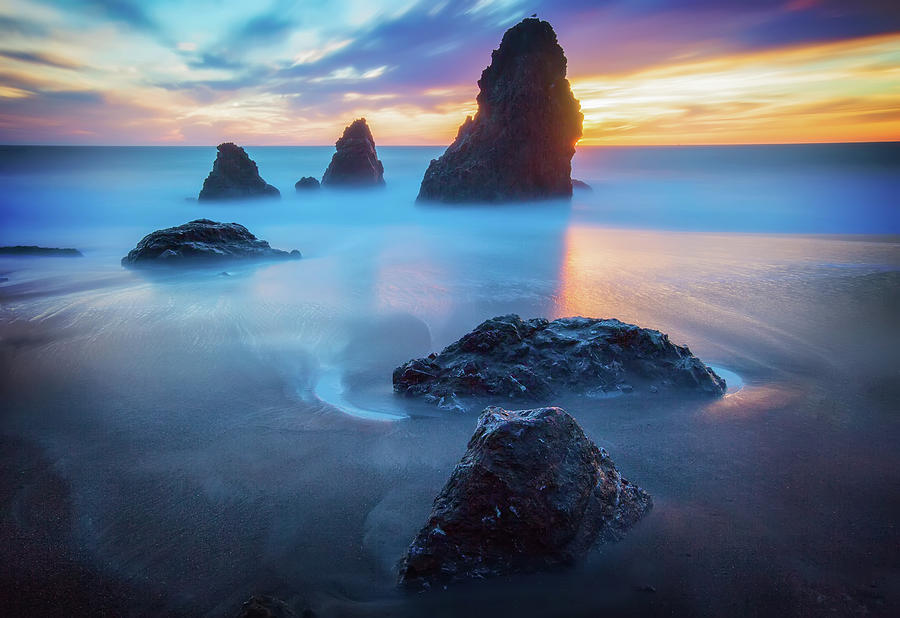 The Three Amigos Rodeo Beach Sunset Photograph By Jennifer
