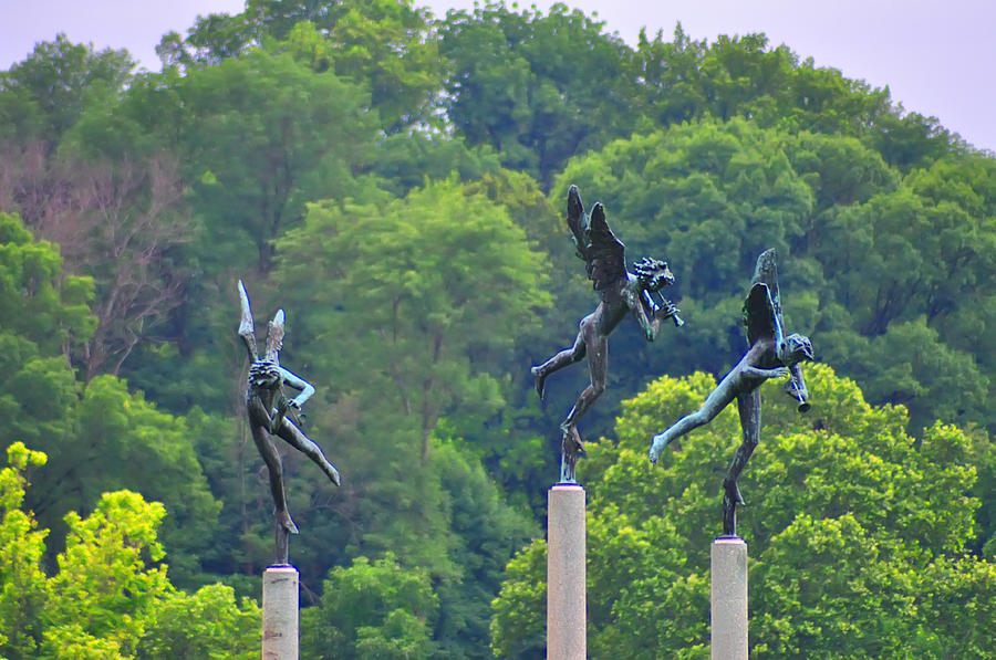 Angels Photograph - The Three Angels by Bill Cannon