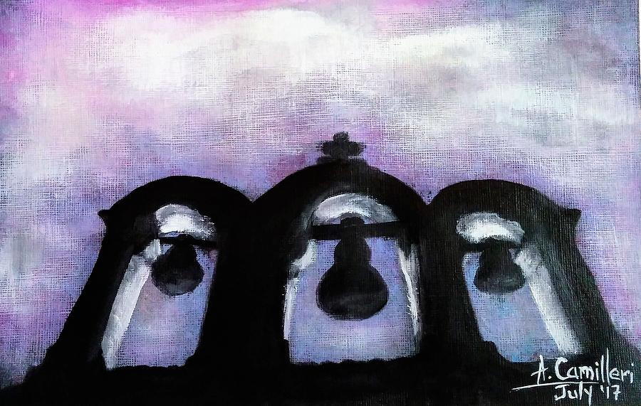 The Three Bells Painting by Anthony Camilleri