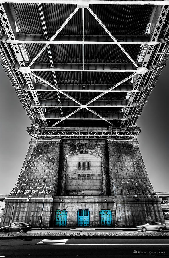 Pennsylvania Photograph - The Three Blue Doors by Marvin Spates