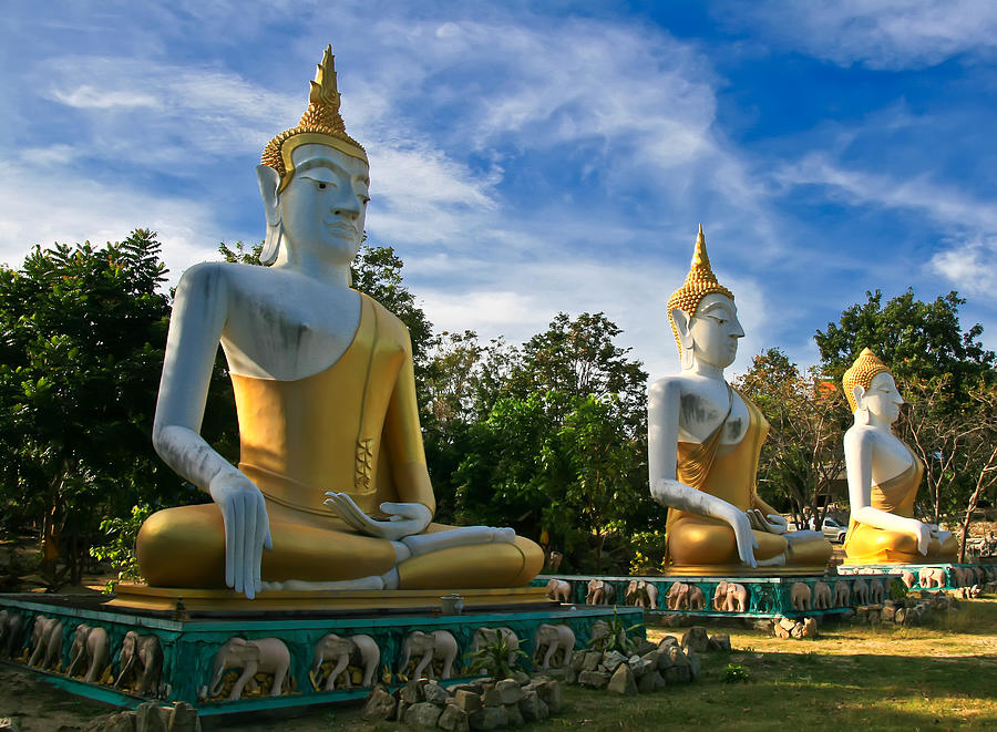 Architecture Photograph - The Three Buddhas  by Adrian Evans