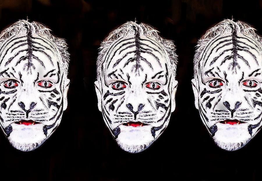 Three Digital Art - The Three Faces by David Lee Thompson