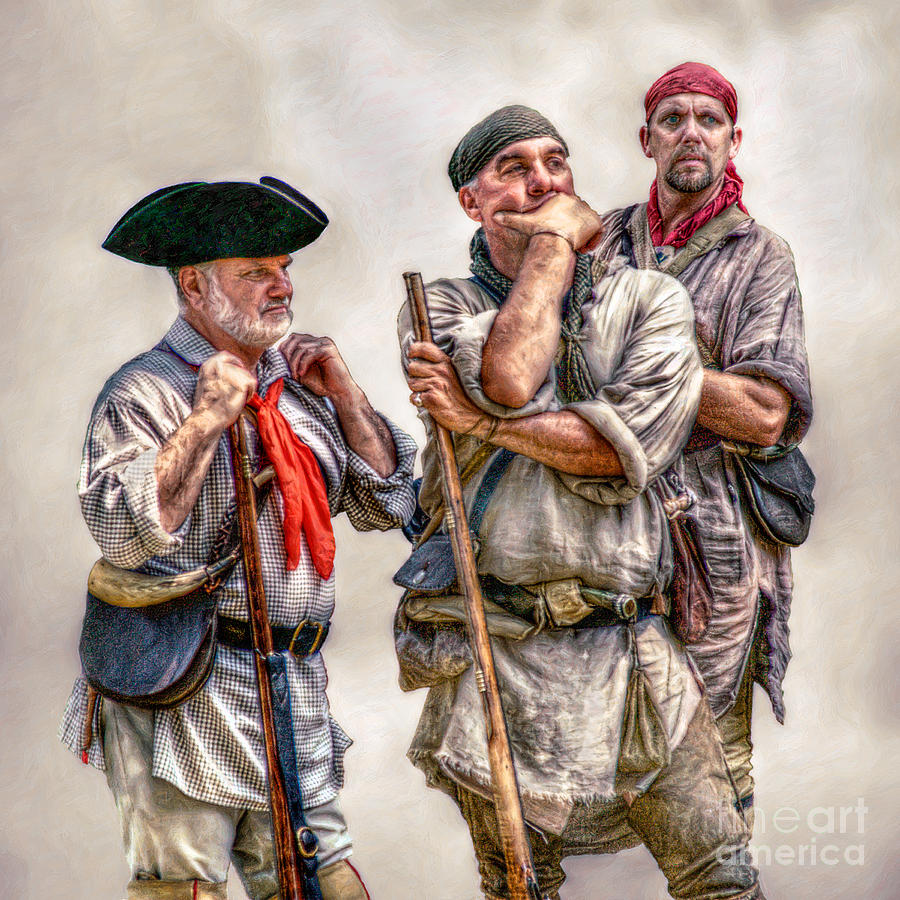 Frontiersmen Digital Art - The Three Frontiersmen  by Randy Steele