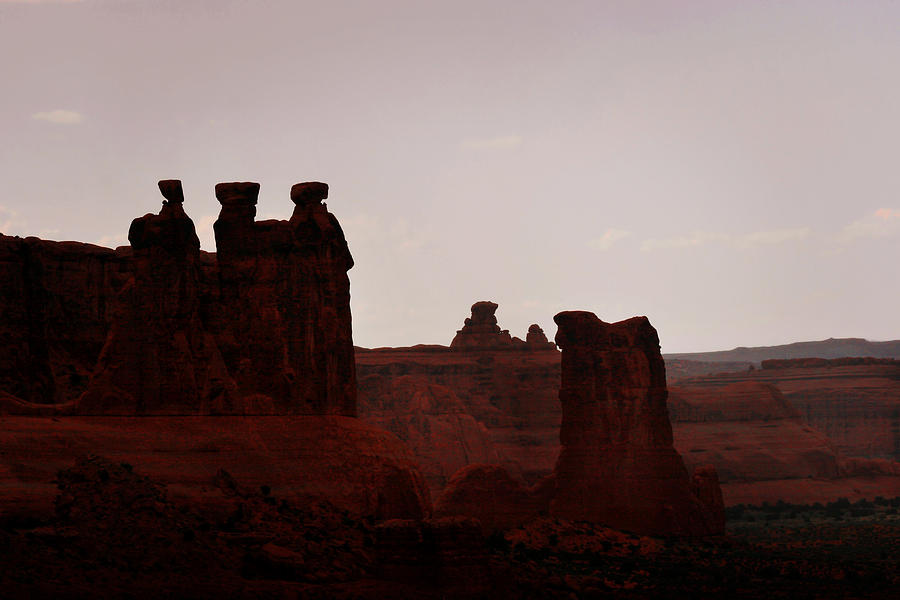 Landscape Photograph - The Three Gossips Arches National Park Utah by Christine Till
