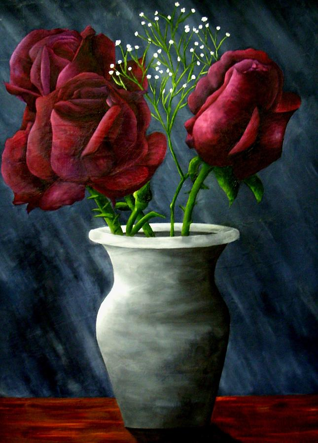 Roses Painting - The Three Graces by Brandon Sharp