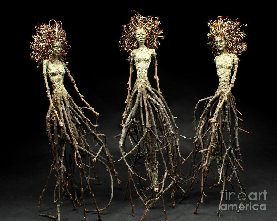 Three Graces Mixed Media - The Three Graces Dance by Adam Long