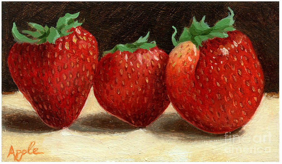 Food Painting Painting - The Three Graces by Linda Apple