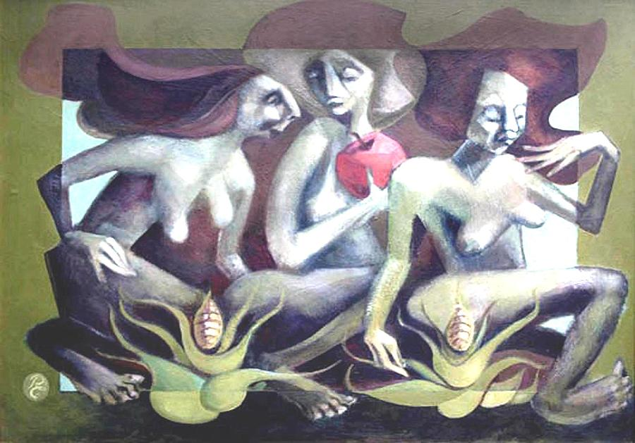 The Three Graces Painting by Peter A Cerreta