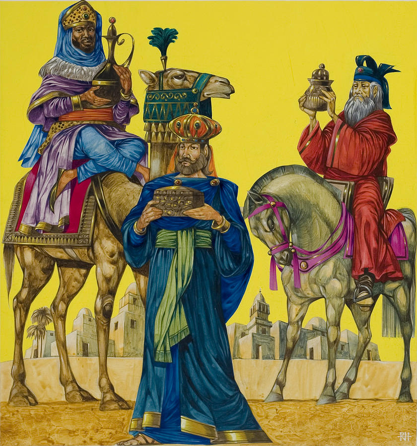 The Three Kings Painting by Richard Hook
