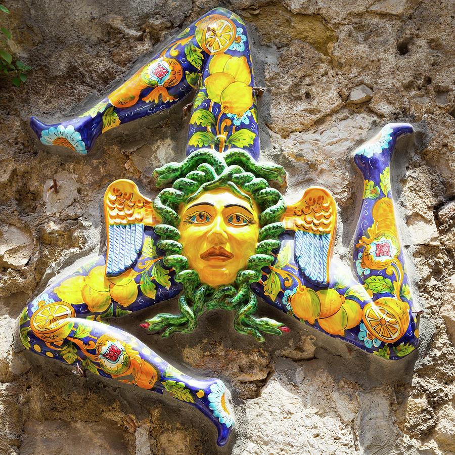 The Three Legged Symbol Of Sicily Italy Trinacria Photograph By