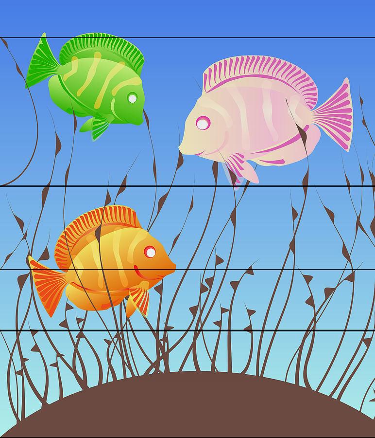 Fish Digital Art - The Three Little...fish by Kori Jones