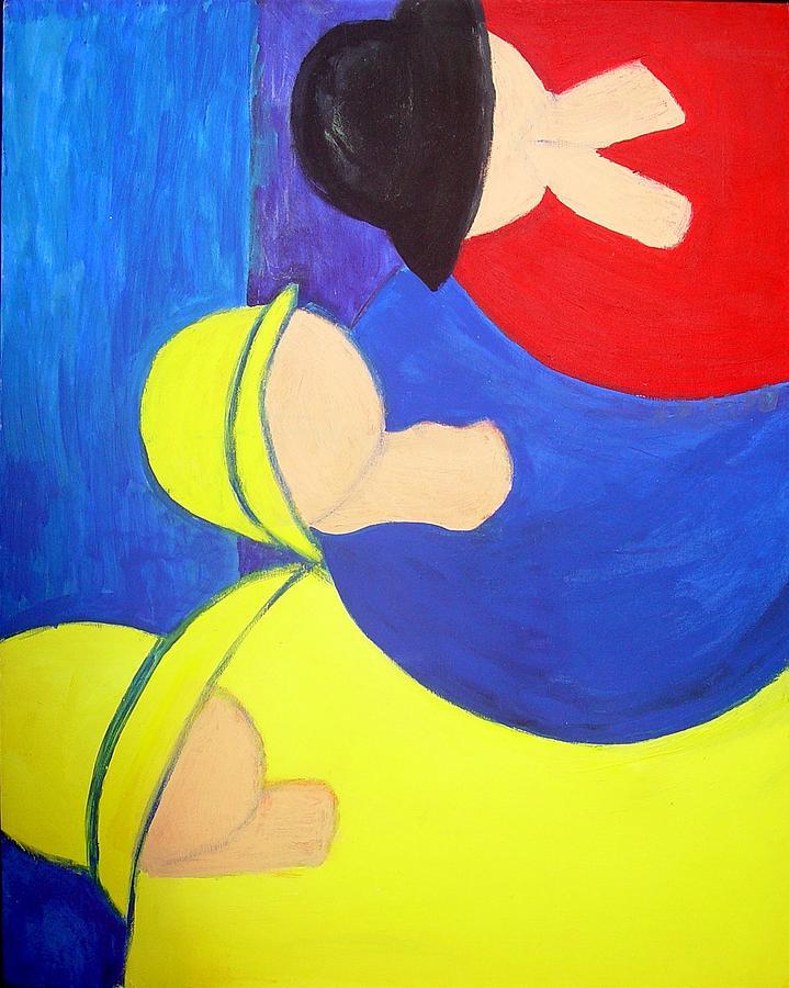 Rassouli Painting - The Three of Us by Bebe Brookman