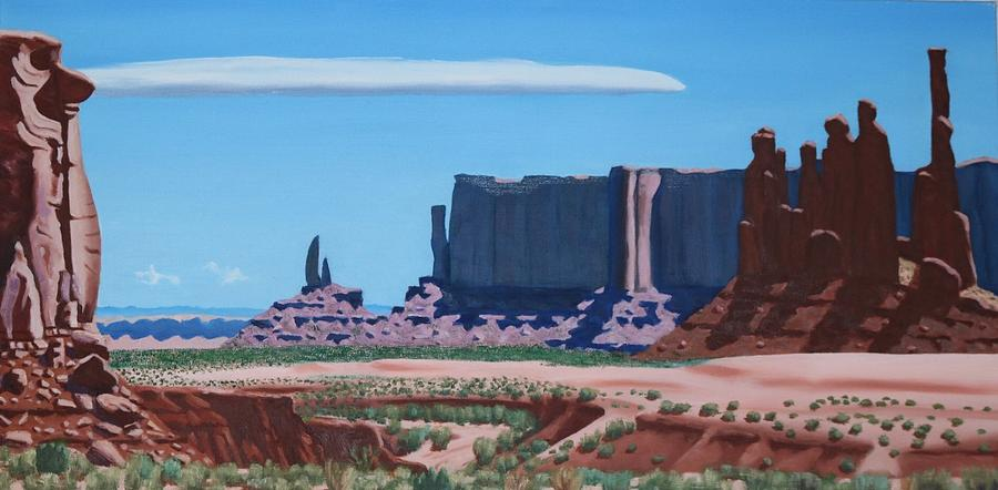 Moab Painting - The Three Sisters by Allen Kerns