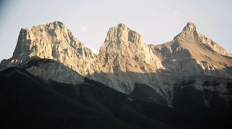 Rocky Mountains Photograph - The Three Sisters of the Rockies by Tiffany Vest