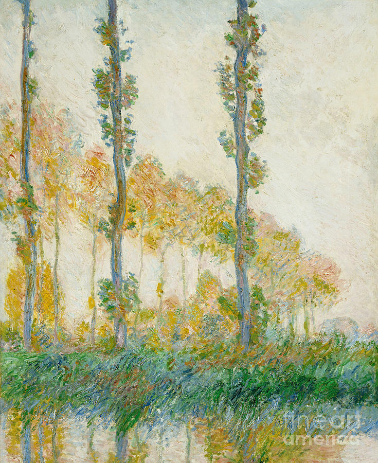 France Painting - The Three Trees by Claude Monet