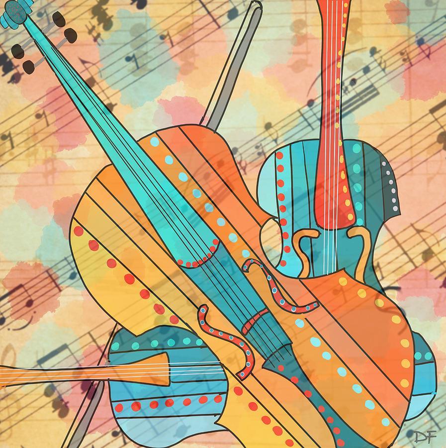 The Three Violins 2 by Dora Ficher