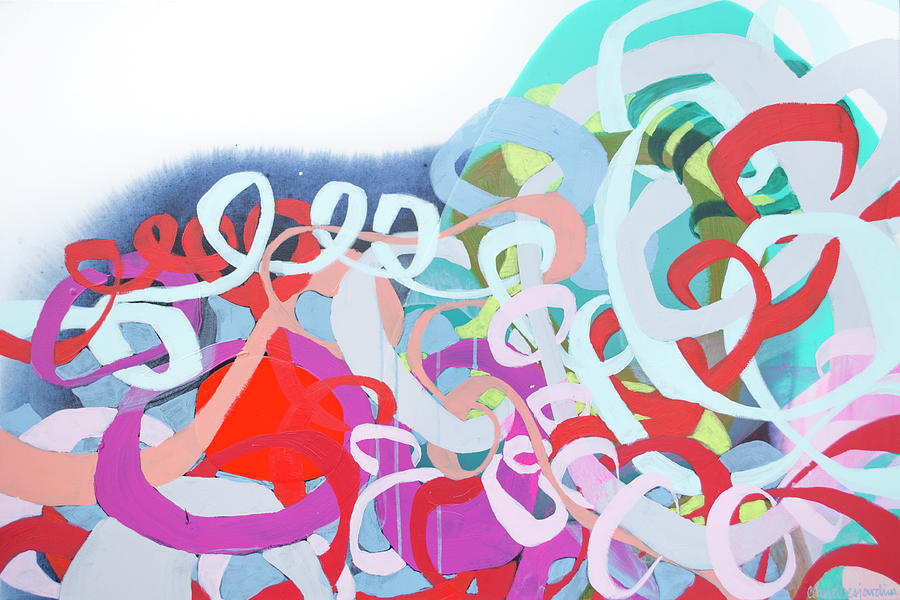 Abstract Painting - The Thrill Of It All by Claire Desjardins