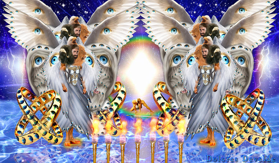 Four living Creatures  by Dolores Develde