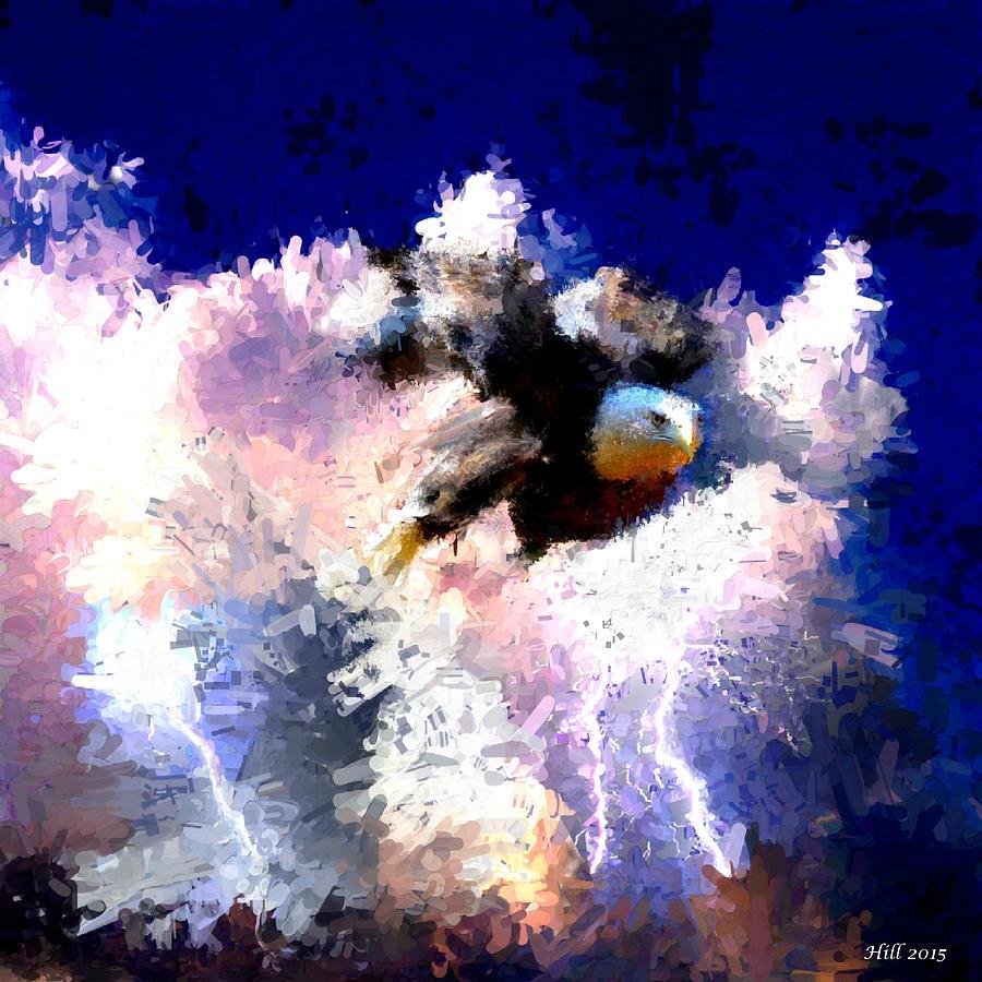 Thunderbird Digital Art - The Thunderbird by T D Hill