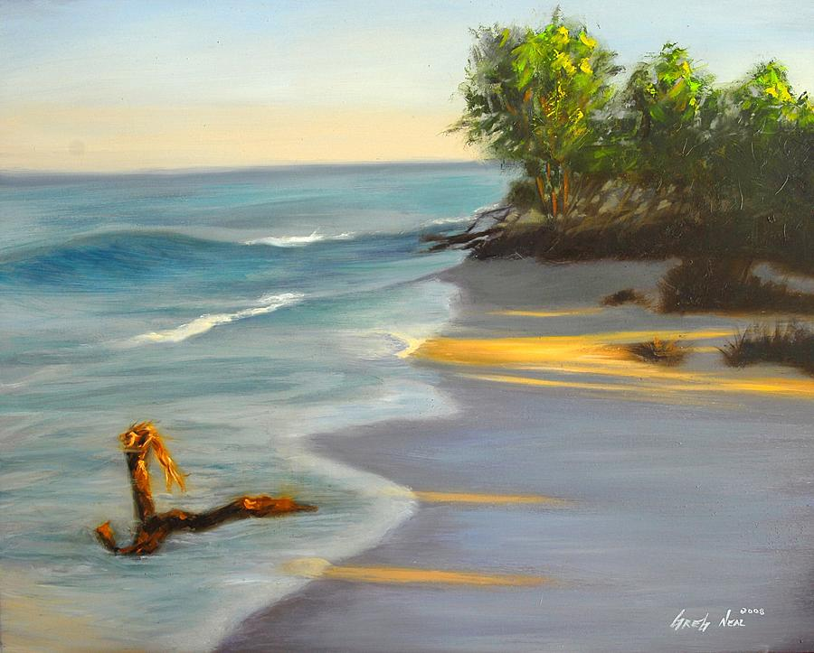 Landscape Painting - The Tide Is Blocking The Way by Greg Neal