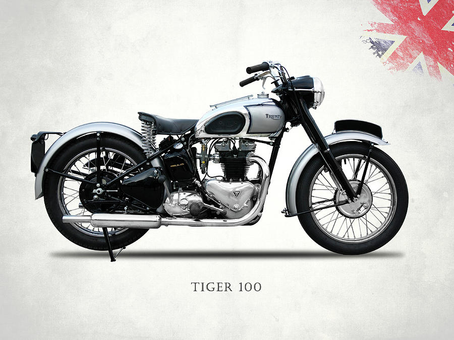 Triumph Tiger 100 Photograph - The Tiger 100 1949 by Mark Rogan