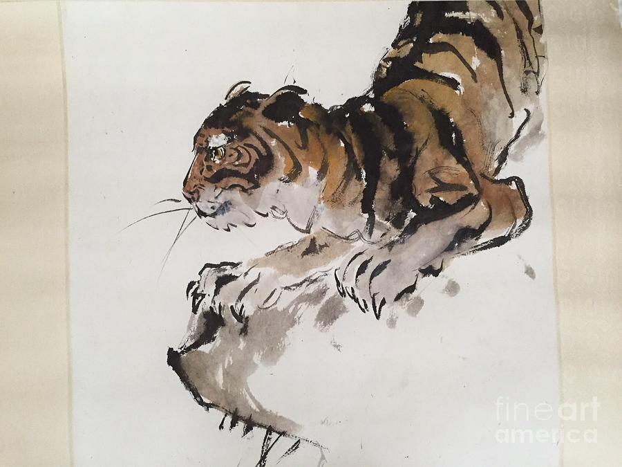 Tiger At Rest by Fereshteh Stoecklein