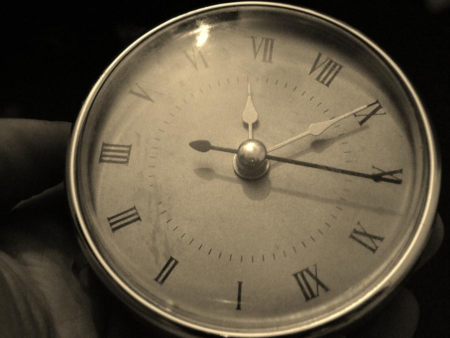 Clock Photograph - The Time At Hand by Ali Dover