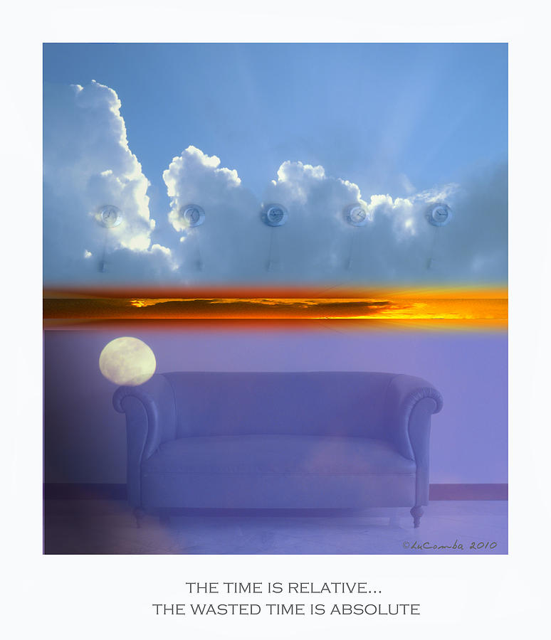 Concept Photograph - The Time Is Relative. by Luciano Comba