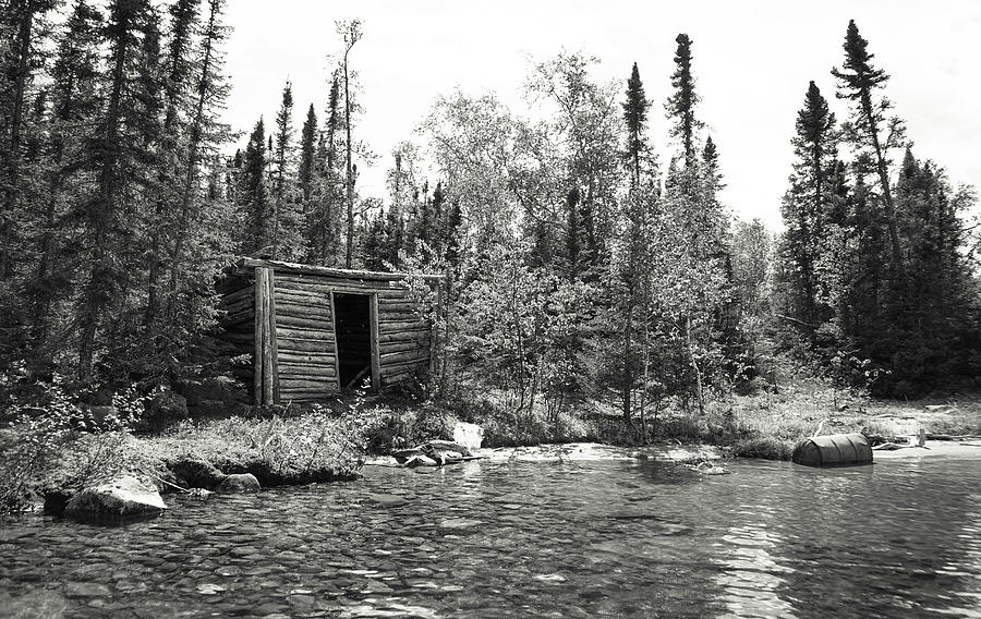 Black And White Photograph - The Timeless Cabin by Paki OMeara