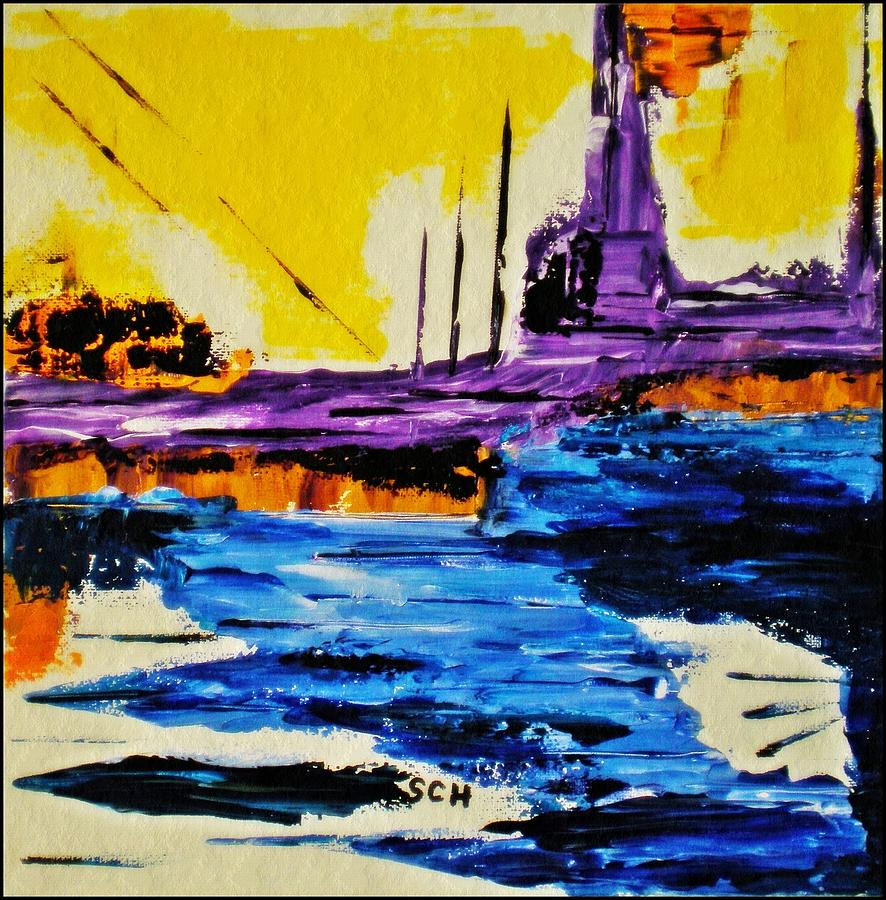 Abstract Mixed Media - The Timeless Land - Number Five by Scott Haley