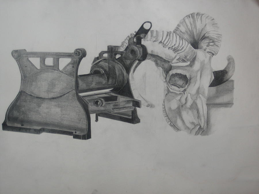 Metal Drawing - The Times by Olivia  Whitby