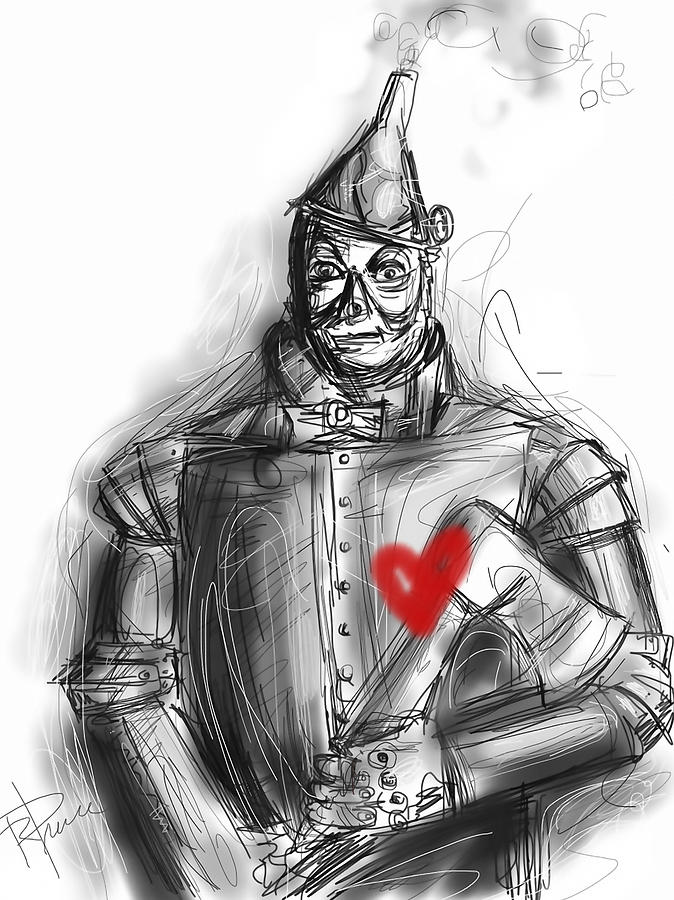 The Tin Man Digital Art - The Tin Man by Russell Pierce