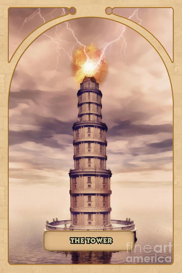 Magic Digital Art - The Tower by John Edwards