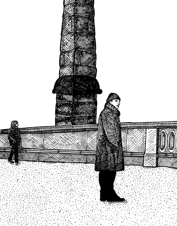 Drawing Drawing - The Tower by Karl Addison