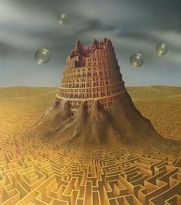 The Tower Of Babel Painting by Andreas Zielenkiewicz