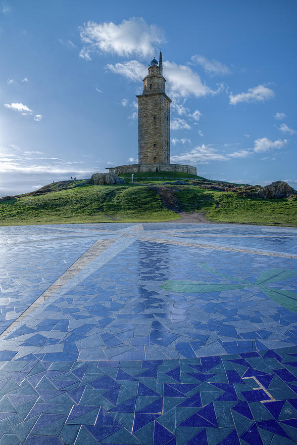 Galicia Photograph - The Tower Of Hercules And The Rose Of The Winds by Luis Vilanova