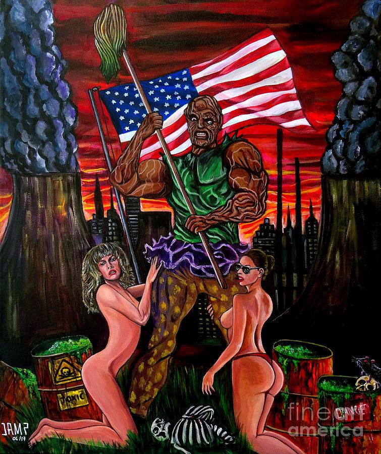 Troma Painting - The Toxic Avenger by Jose Mendez