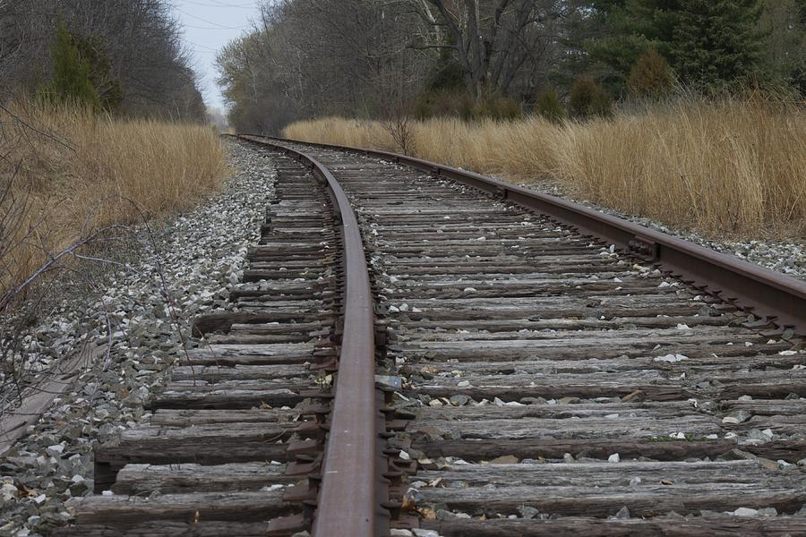 Locomotive Photograph - The Tracks by Danielle Allard