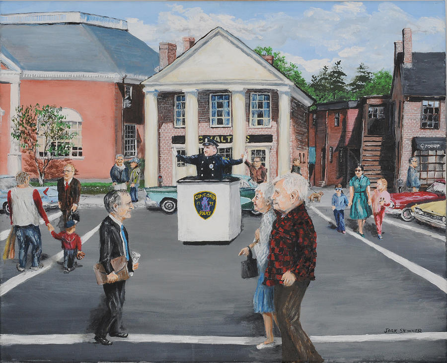 Police Painting - The Traffic Box by Jack Skinner