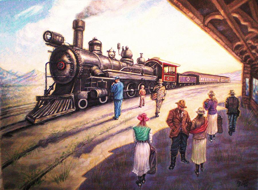 The Train Station At Ely Painting By Raffi Jacobian