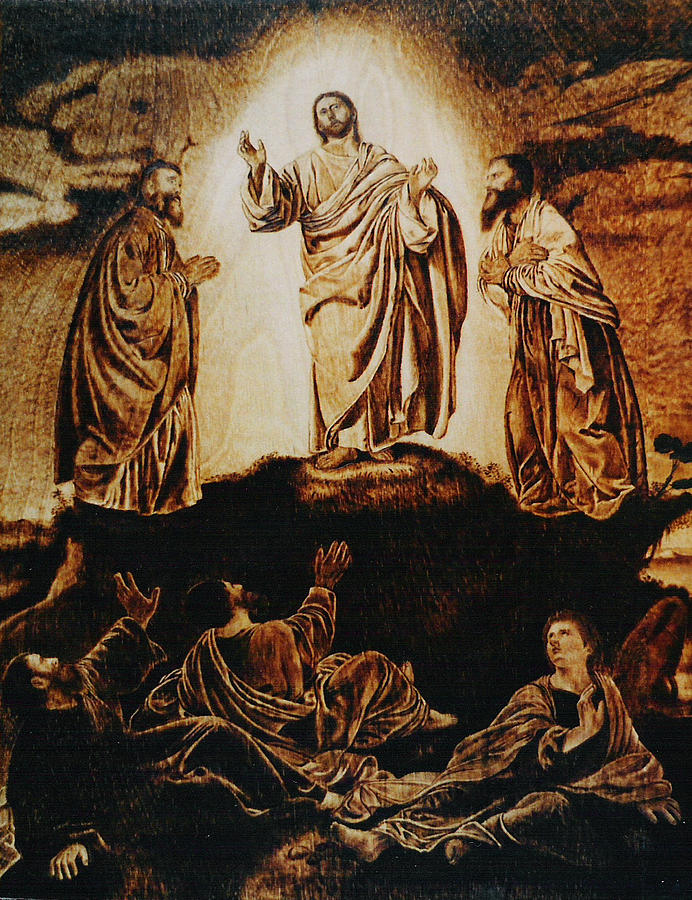 Reproduction Pyrography - The Transfiguration by Dino Muradian