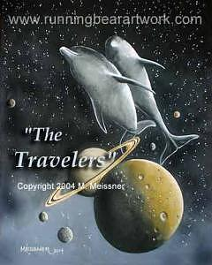 Framed Painting - The Travelers by Michael Meissner