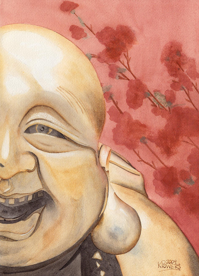 Buddha Painting - The Travelling Buddha Statue by Ken Powers