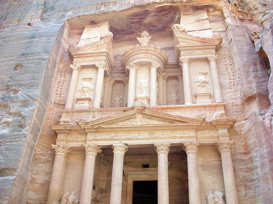 Petra Photograph - The Treasury - Jordan by Munir Alawi