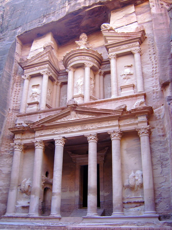 Petra Photograph - The Treasury by Larry Underwood